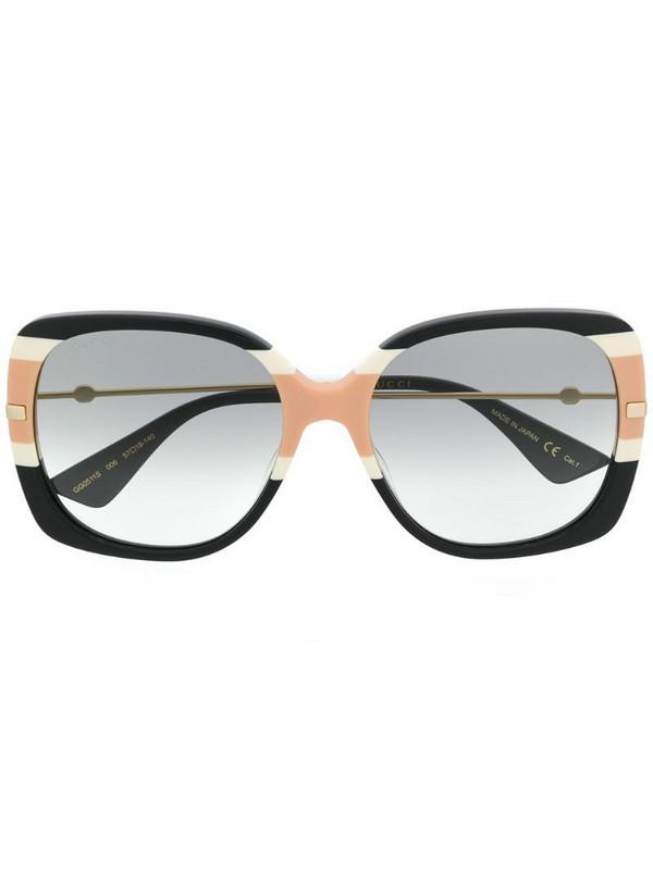 Gucci Eyewear block stripe square sunglasses in black