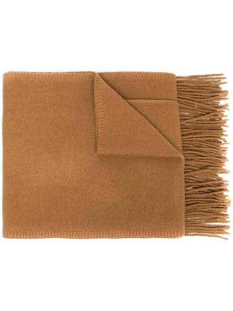 Joseph fringed pocket-detail scarf in brown