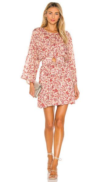 MINKPINK Maximilliane Mini Dress in Blush in multi