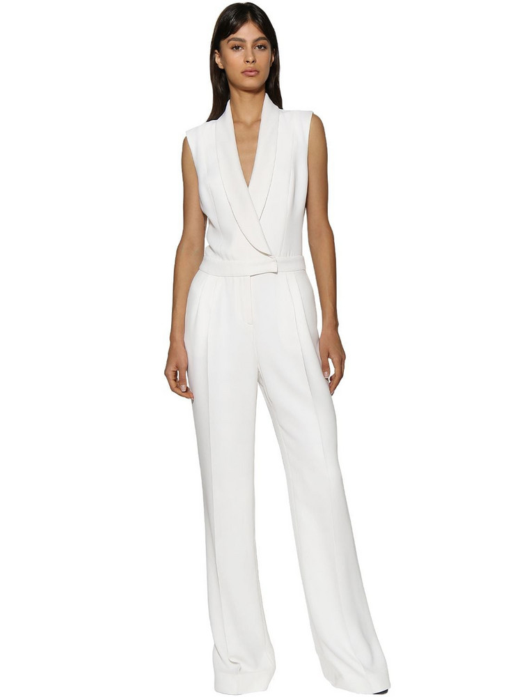 RALPH & RUSSO Viscose Blend Jumpsuit in white