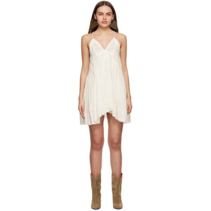 Isabel Marant Off-White Silk Kitou Dress in ecru