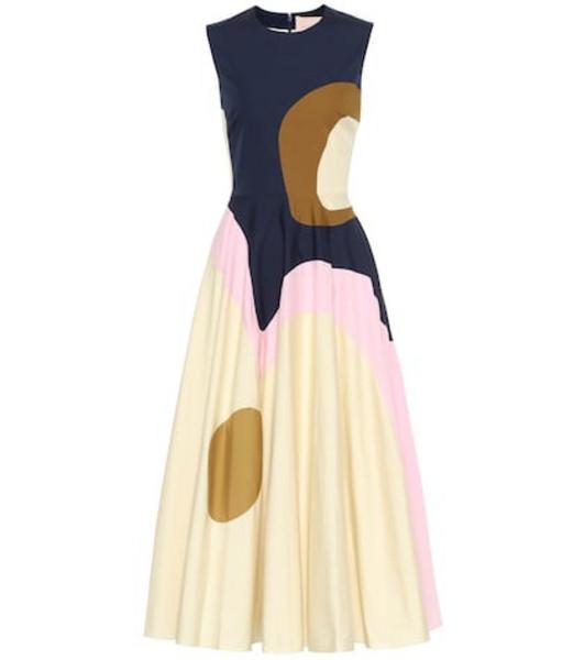 Roksanda Catia printed cotton-blend midi dress