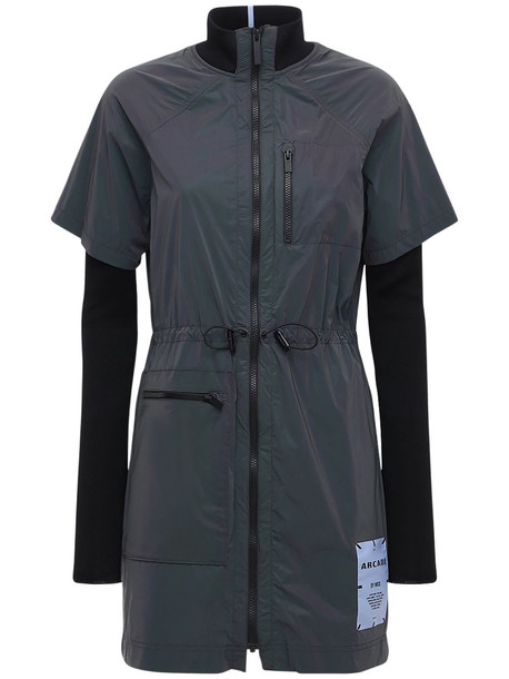 MCQ Arcade Reflective Tech Dress in black