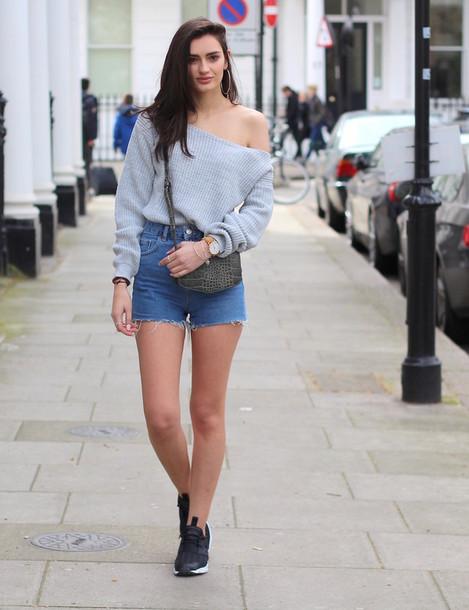 peexo blogger sweater shorts bag