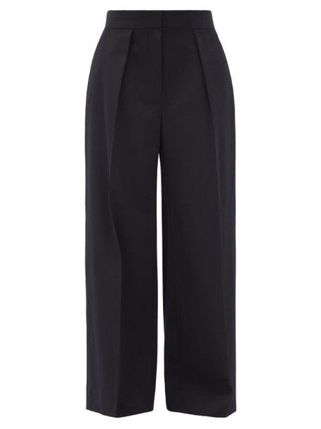 The Row - Avril Single-pleat Water-repellent Wool Trousers - Womens - Navy