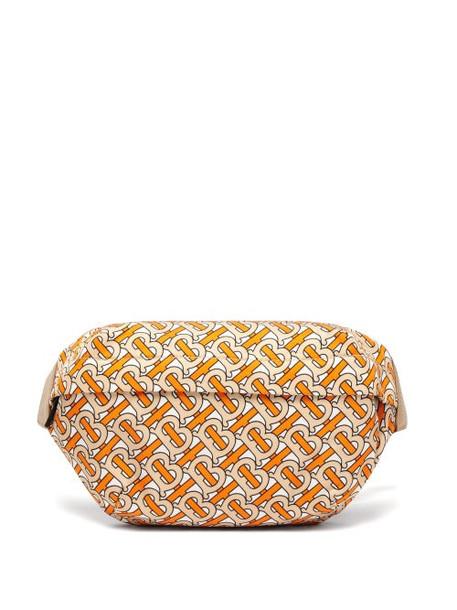 Burberry - Tb Print Twill Belt Bag - Womens - Orange Multi
