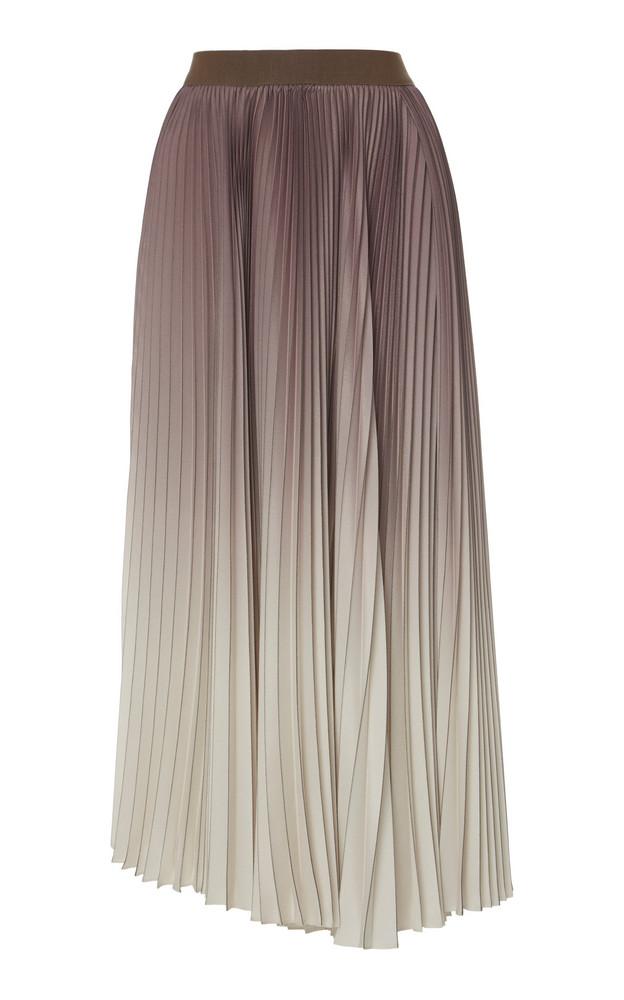 Agnona Ombre Pleated Midi Skirt in multi