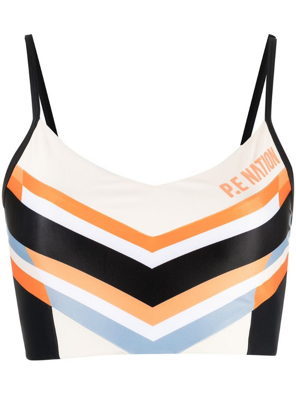 P.E Nation Score runner sports bra in neutrals