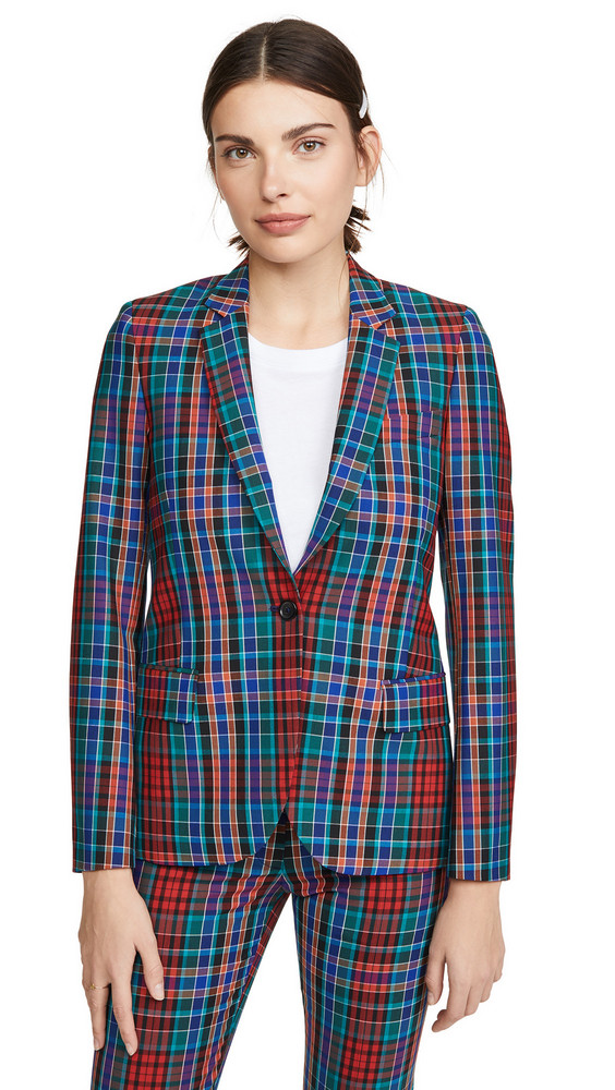 Paul Smith Plaid Jacket in red