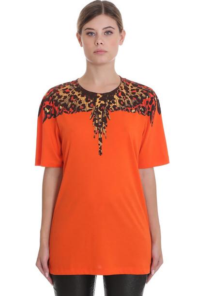 Marcelo Burlon T-shirt In Orange Cotton