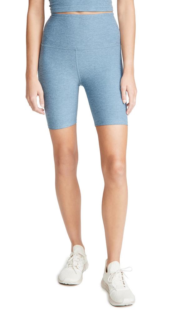 Beyond Yoga High Waisted Biker Shorts in blue