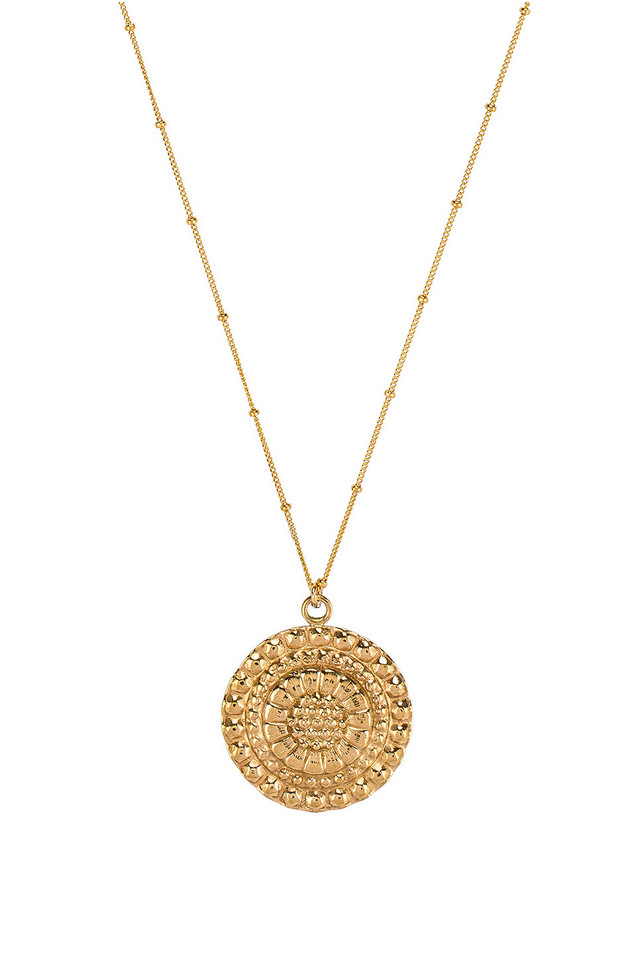 Paradigm Friar Coin Necklace in gold / metallic