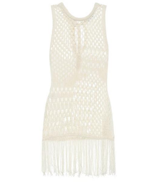 Altuzarra Carmela cotton-blend knit top in white