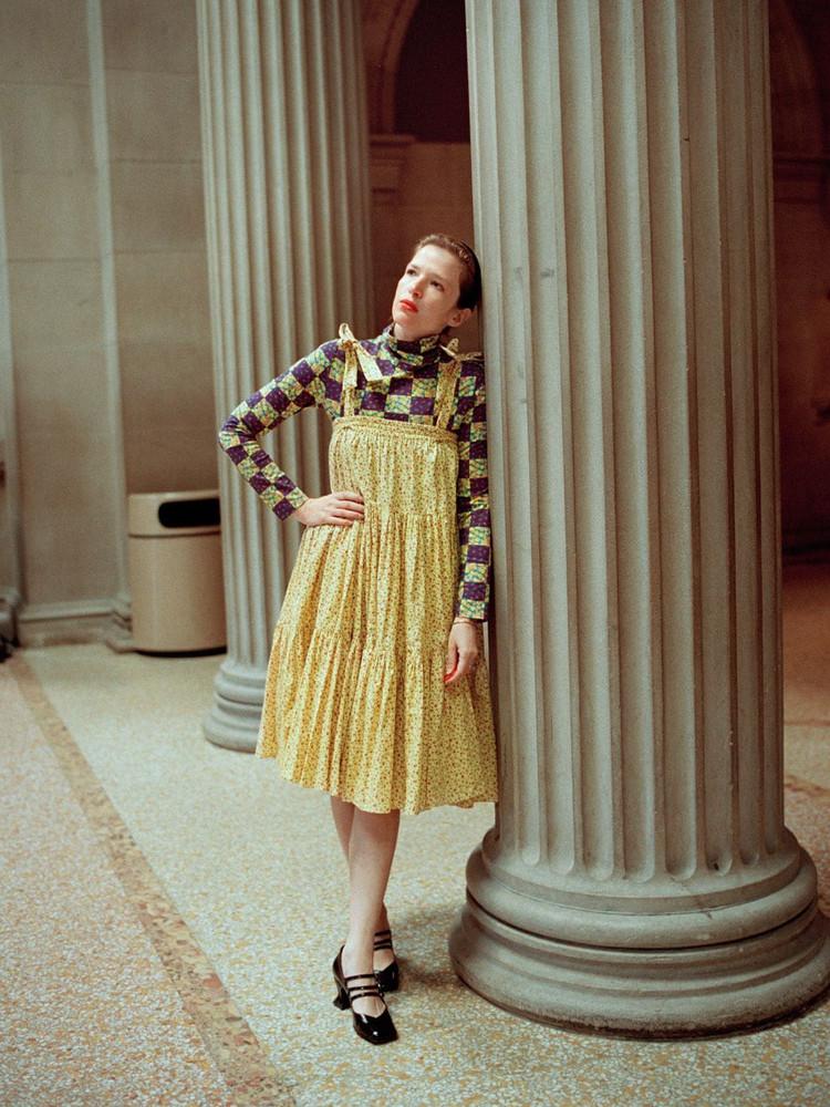 BATSHEVA Amy Printed Cotton Ruffled Dress & Skirt in yellow