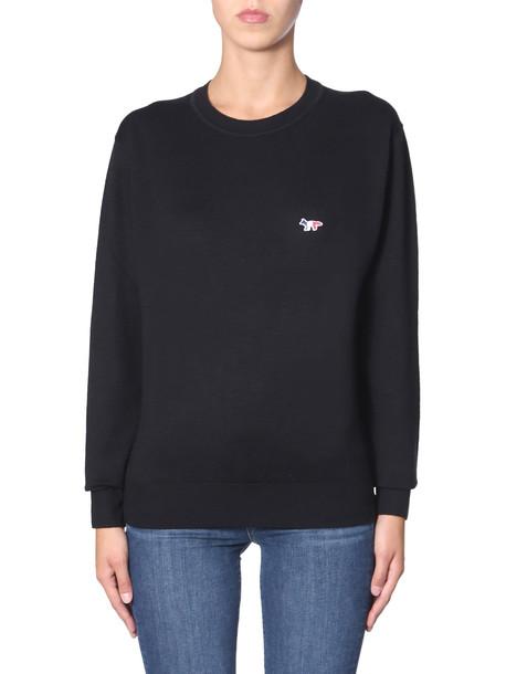 Maison Kitsuné Maison Kitsuné Crew Neck Sweater in nero