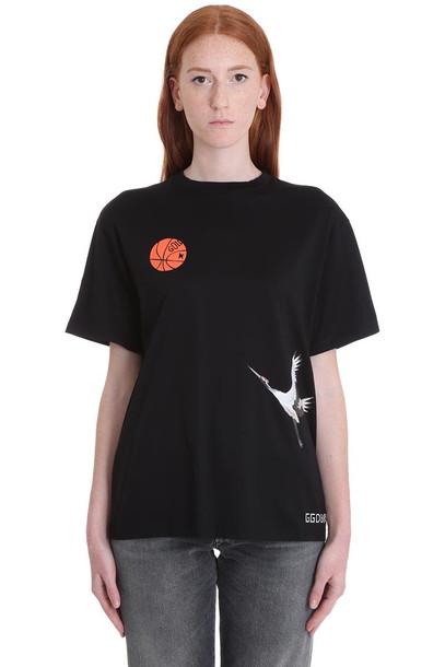 Golden Goose T-shirt Golden T-shirt In Black Cotton