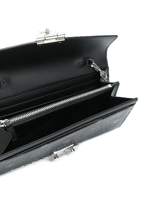 MCM Patricia monogram-print crossbody wallet in black