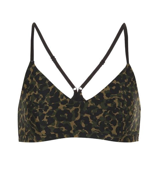 The Upside Leopard Camo Zoe sports bra in green