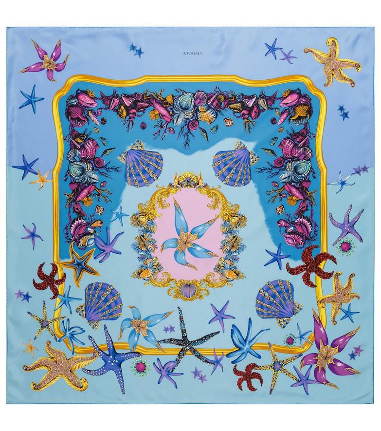 Versace Trésor de la Mer silk scarf in blue