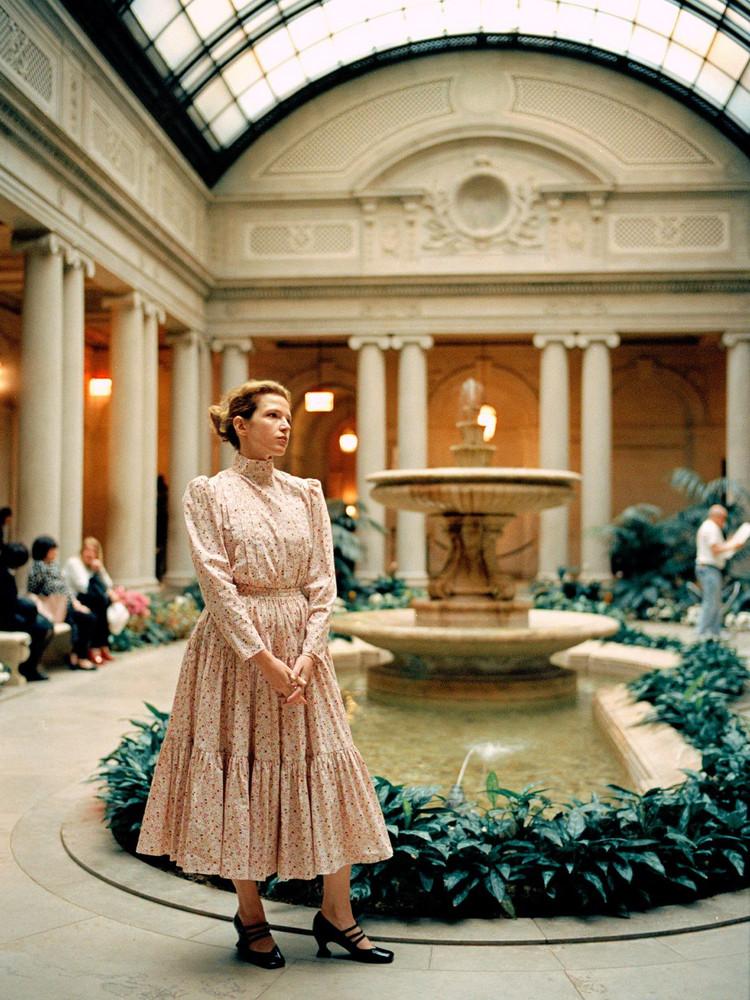 BATSHEVA Amy Printed Cotton Ruffled Dress & Skirt in pink