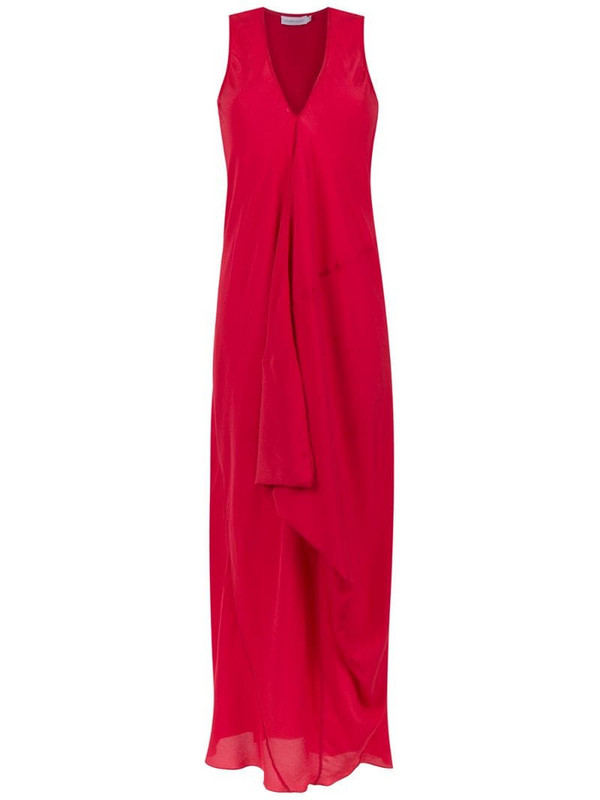 Mara Mac silk long dress in red