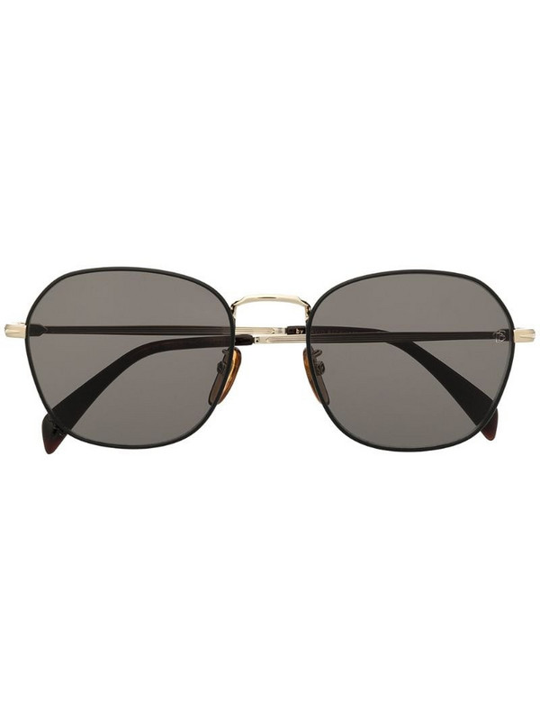 Eyewear by David Beckham curved square frame sunglasses in black
