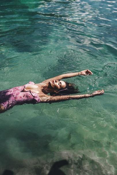 swimwear one piece swimsuit pink swimwear pink summer sea