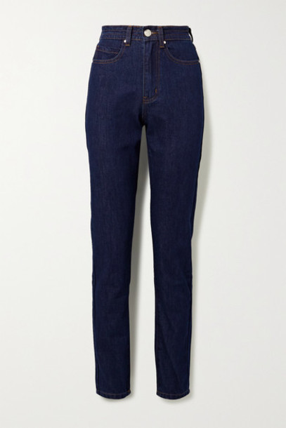 L.F.Markey - Johnny High-rise Straight-leg Jeans - Dark denim