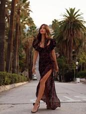dress,rocky barnes,instagram,blogger,blogger style,maxi dress