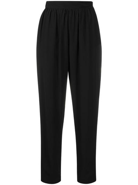 Emilio Pucci crepe de chine cropped trousers in black
