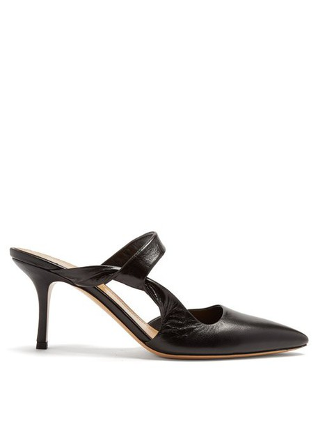 The Row - Gala Twist Leather Mules - Womens - Black