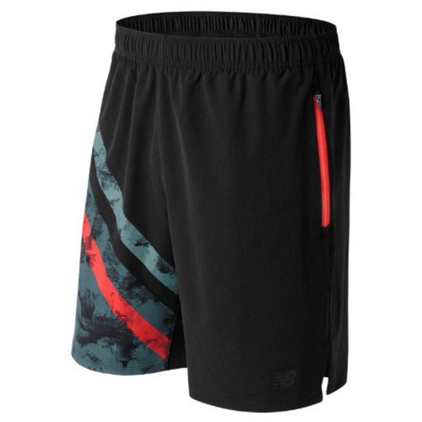 New Balance 71044 Men's Max Intensity Short - Black/Orange (MS71044BPT)