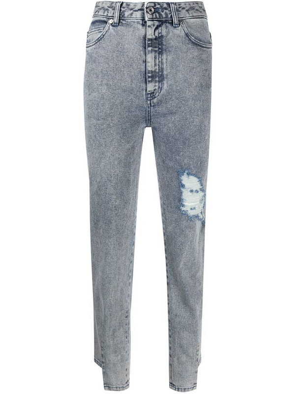 Just Cavalli rip detail jeans in blue