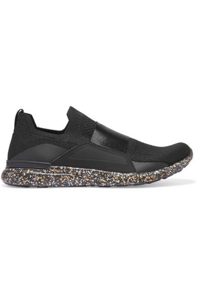 APL Athletic Propulsion Labs - Techloom Bliss Mesh And Neoprene Sneakers - Black
