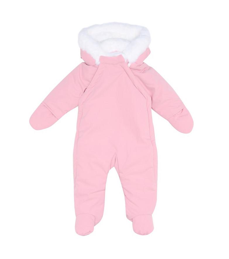 Rachel Riley Baby hooded bodysuit in pink