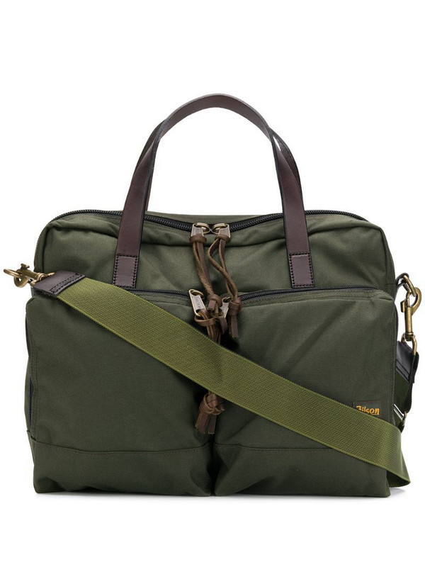 Filson utility laptop bag in green