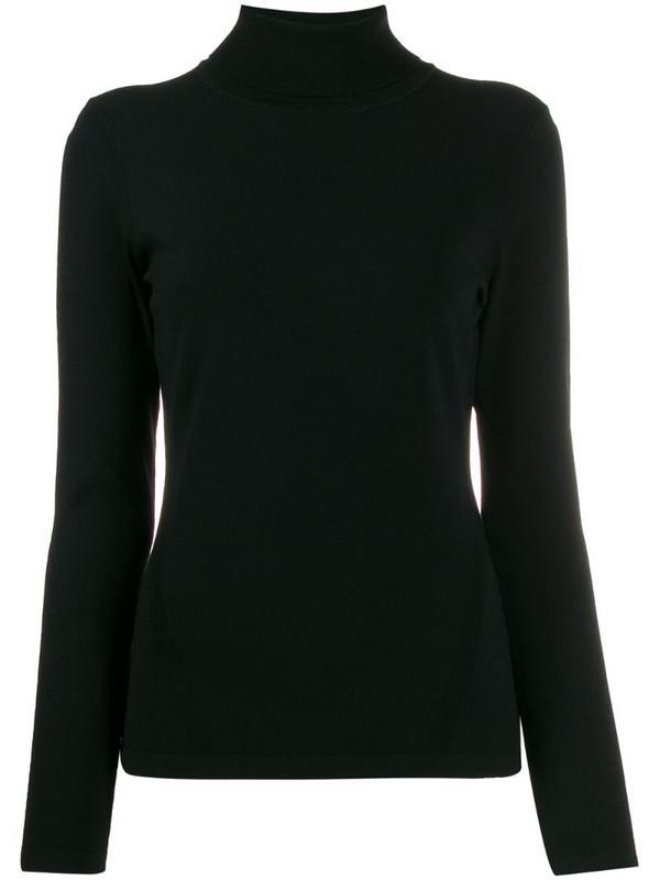 DVF Diane von Furstenberg turtleneck knitted jumper in black