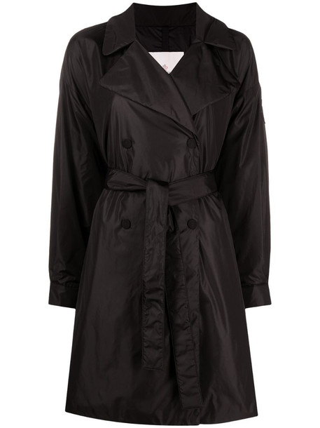Moncler padded mid-length belted trench coat in black