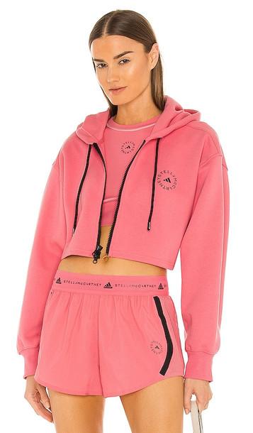 adidas by Stella McCartney ASMC SC Cropped Hoodie in Pink