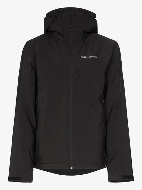 Peak Performance black Maroon hooded jacket