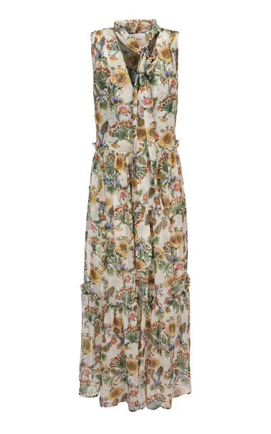 La DoubleJ Lou Lou Maxi Dress in white