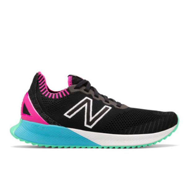 New Balance FuelCell Echo Women's Neutral Cushioned Shoes - Black/Pink/Blue (WFCECSB)