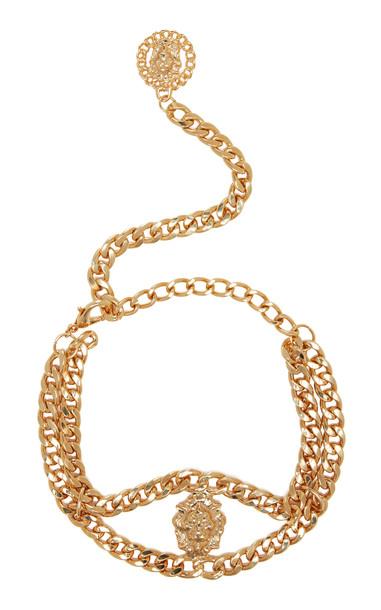 Alessandra Rich Lion Medallion Gold-Tone Choker