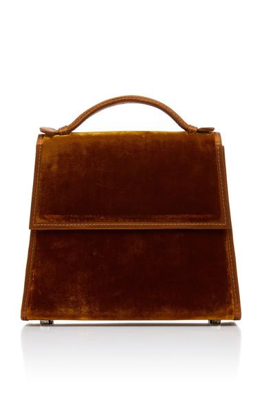 Hunting Season Velvet And Satin Top Handle Bag in neutral