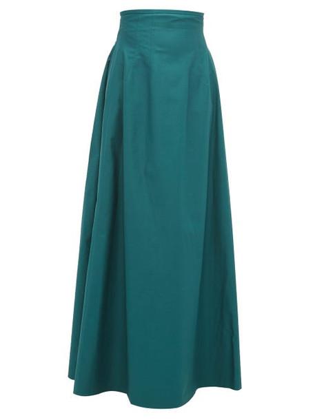 Khaite - Tabitha High Rise Cotton Twill Maxi Skirt - Womens - Green