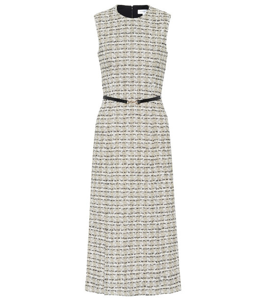 Victoria Beckham Tweed midi dress in grey