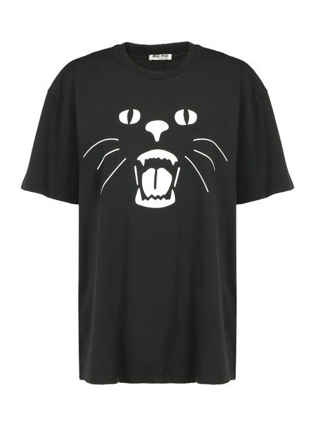 Miu Miu T-shirt in nero