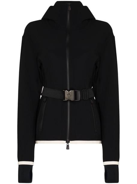 Moncler Grenoble Maglia zip-up ski jacket in black