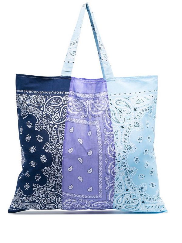 Arizona Love bandana-print colour-block tote in purple
