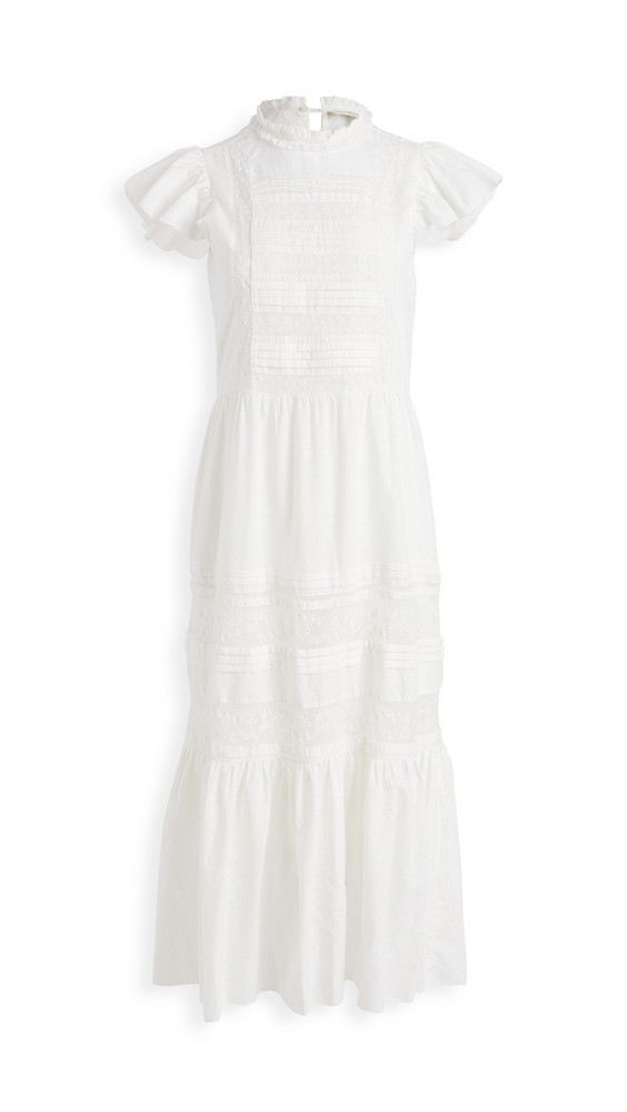 THE GREAT. THE GREAT. The Blackbird Dress in cream